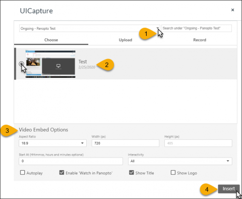 UICapture - Embed in ICON - Choose