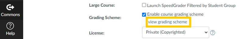 Click view grading scheme