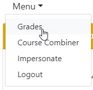 Grades Menu