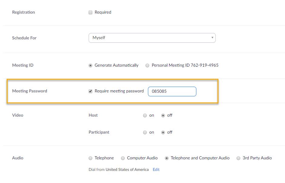 Meeting Password