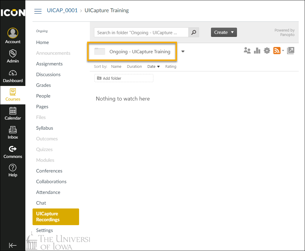 Verify that a UICapture Folder has been created in UICapture