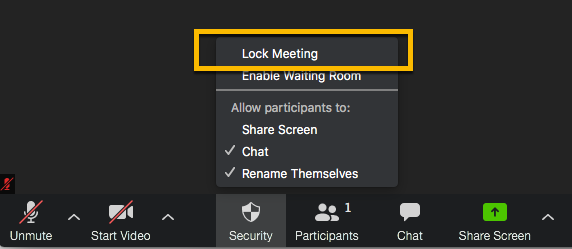 Lock the meeting